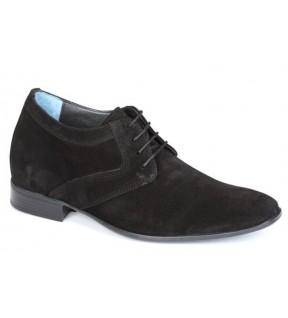 Richness S1 Siyah Süet+7cm, Klasik Ayakkabı